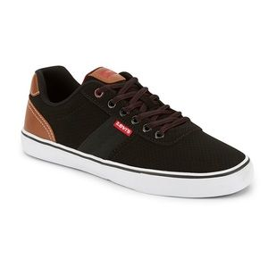 Levi's Ethan Black/Tan comfort insole sneakers 10